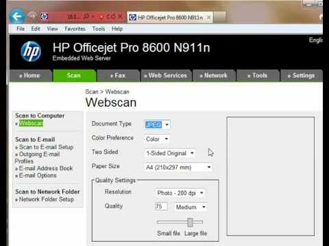 Scan using Internet browsers from HP printers