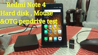 Redmi Note 4 Hard disk(500Gb,2Tb),mouse & OTG pendrive test