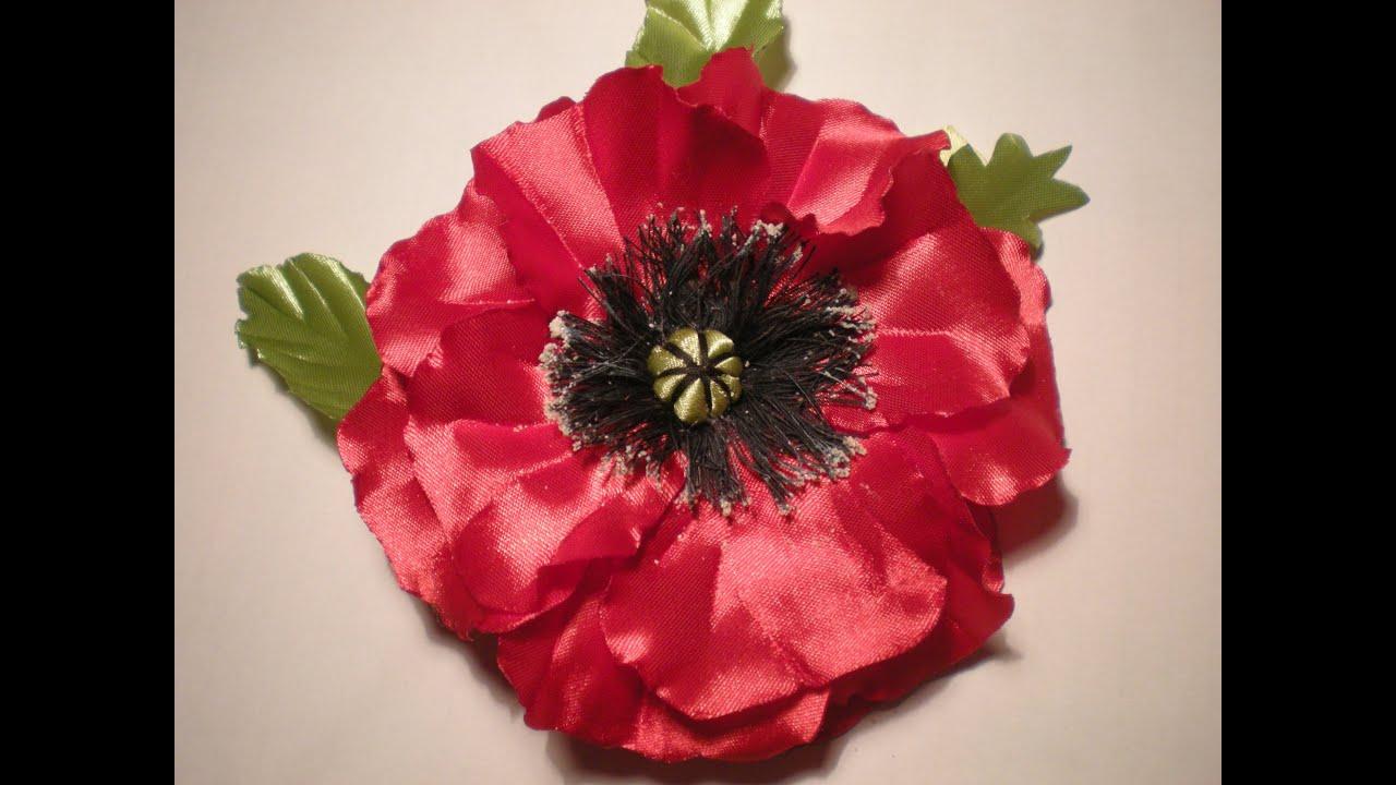 Цветы из ткани своими руками для 57