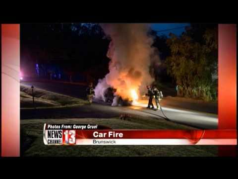 Car catches fire in Brunswick