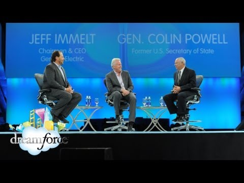 Leadership: Gen. Colin Powell & GE CEO Jeffrey Immelt - #DF12 Keynote