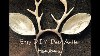 Easy D.I.Y. Deer Antlers