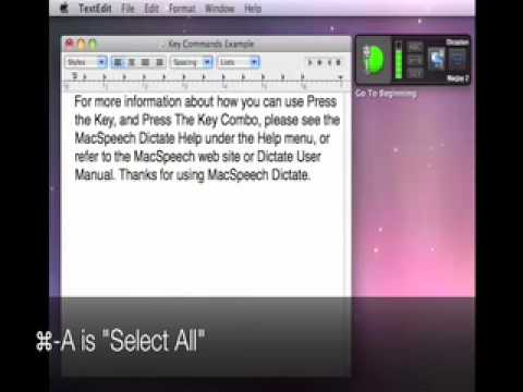 Tutorial:  How To Use Key Commands in MacSpeech Dictate