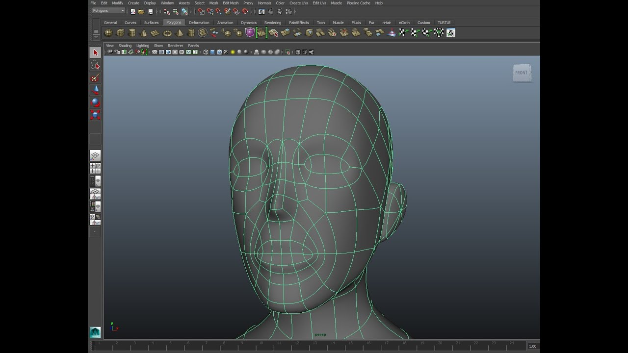 Character Design Maya Tutorial : Maya character modeling tutorial part the head youtube