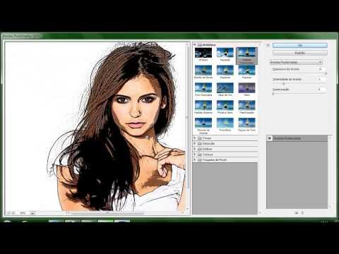 Video aula - Como Fazer Um Efeito De Desenho No Photoshop CS6