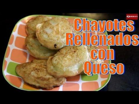 Chayotes Rellenados con Queso - Recetas en Casayfamiliatv