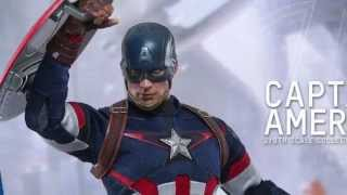 Avengers Age Of Ultron Hot Toys Captain America 1/6 Scale Movie Figure Pics & Details