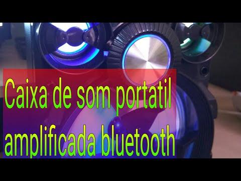 🔴Caixa de som portátil com led amplificada Bluetooth USB mp3 rádio FM p2 cart e13(unboxing)🔴