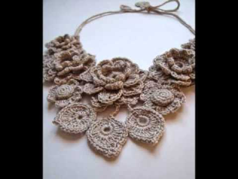 Crochet Stitches Jewelry : Crochet jewelry by Fibreromance - YouTube