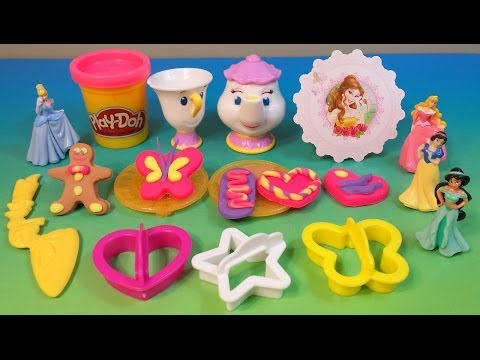 ♥Play-Doh Disney Princess Tea Time♥Belle's Royal Party Sparkle collection-Hasbro-MsDisneyReviews