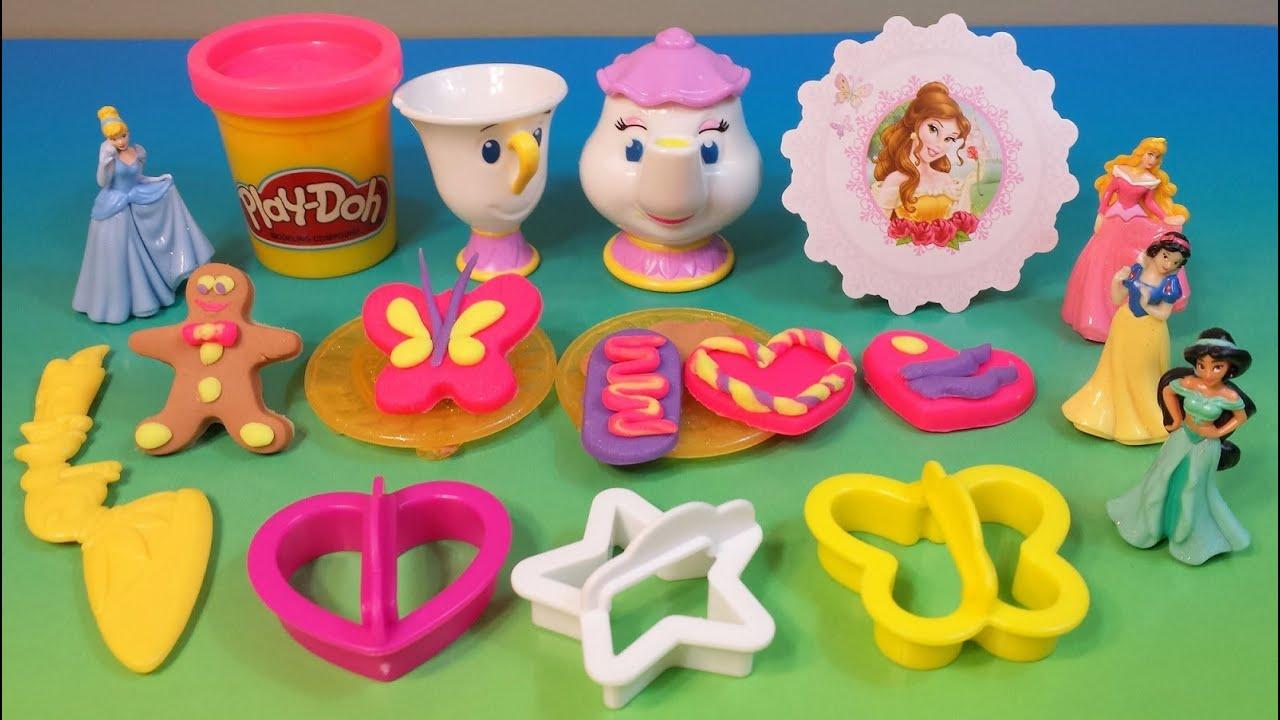 Disney Princess Sparkle Play Doh ♥play-doh Disney Princess Tea