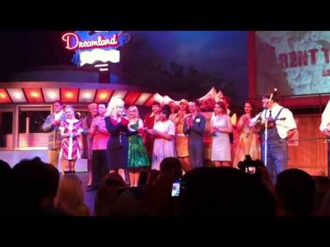 Dolly Parton sings Red White and Bluegrass at The Pines Theatre at Dollywood