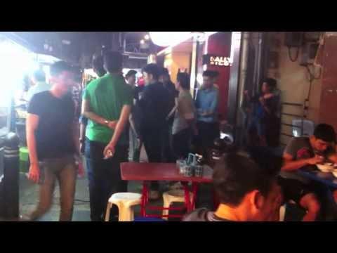 Nighttime Street Life in Bangkok, Thailand: Silom Soi 2 at 4 am