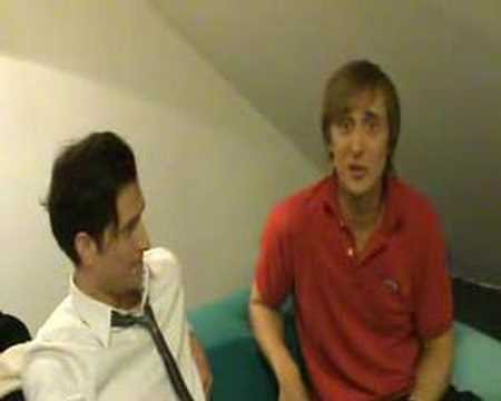 Peter Cincotti and David Guetta Behind the Scenes