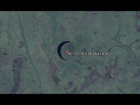 Hallaron una extraña isla circular que se mueve en Argentina