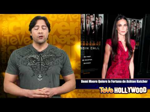 Demi Moore quiere la fortuna de Ashton Kutcher