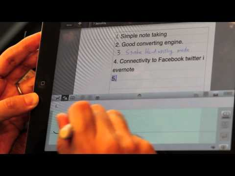 7notes handwriting recognition application