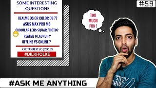 #Ask Ruhez - Realme 6,Asus Max Pro M3,Color OS or Realme OS,OPPO K5 India,Online vs Offline,Fold TV