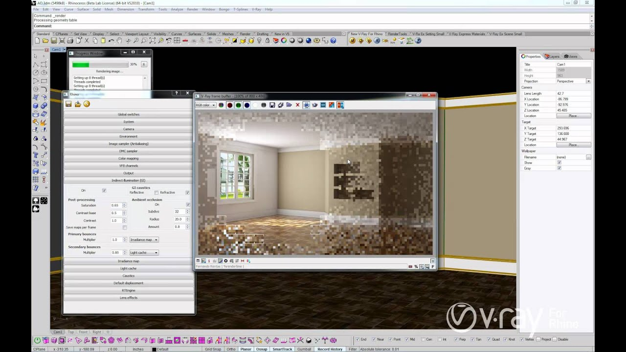 V Ray For Rhino Ambient Occlusion Youtube