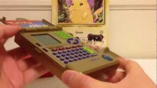Rare 2001 Deluxe Limited Edition Gold Pokedex Review by Tiger Electronics