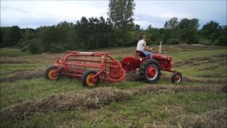 Hay Baling and Raking with Farmall Tractors
