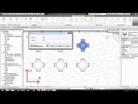 GRAITEC PowerPack for Autodesk Revit - Move XY