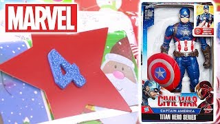 Unwrapping Captain America Civil War | 12 Days of Christmas: DAY 4 | Toy Store - Toys for Kids