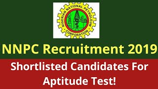 Nigerian National Petroleum Corporation NNPC Recruitment 2019: Aptitude test Fixed    Job News