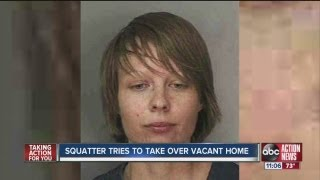 Squatter tries to take over vacant home