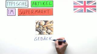 Typische Artikel im Supermarkt - shopping in the supermarket | Englisch | Wortschatz