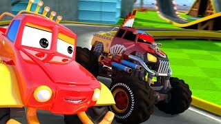 The Olympics: Clash Of Giants   Monster Truck Dan & Little Red Car Cartoon Shows - Kids Channel