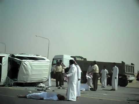 Highway Accident July 8, 2010 Abuhadriyah-Dammam Rd K.S.A. - Bruce : )