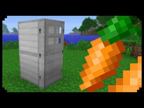 ✔ Minecraft: How to make a Fridge (Improved Version)