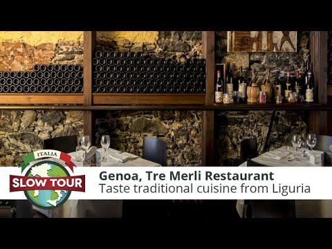 Italian Food: Tre Merli Restaurant at Genoa | Italia Slow Tour