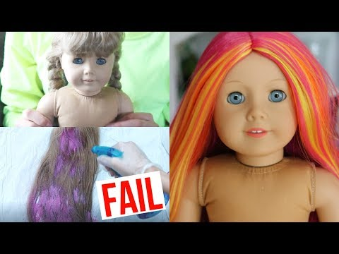 FIXING UP & CUSTOMIZING AND OLD AG DOLL (+ HAIR DYE FAIL)