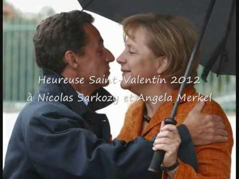 Heureuse Saint-Valentin 2012 à Nicolas Sarkozy et Angela Merkel