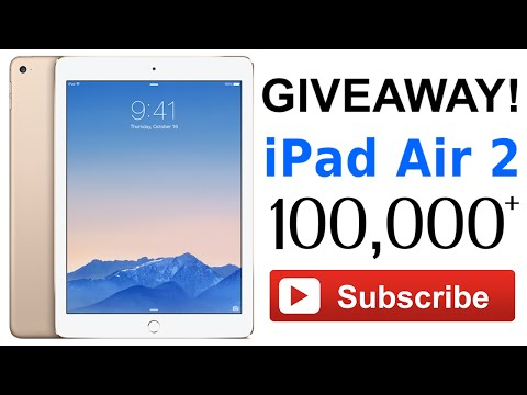 iPad Air 2 Giveaway – 100K Subscribers Giveaway!