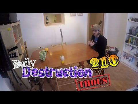 Daily Destruction Thous 210 - Grabando #PutaVida 4, Zombies y Verduras!