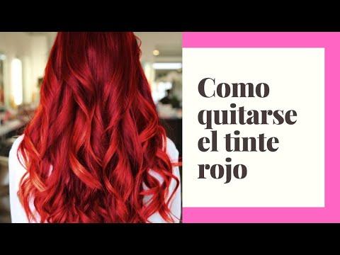 Como quitarse el pelo rojo
