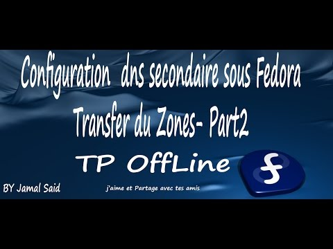 Configuration dns secondaire sou Fedora (Transfer du Zones) Part2 (TP OneLine)