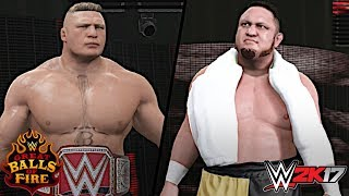 WWE Great Balls of Fire 2017: Brock Lesnar vs. Samoa Joe (Universal Championship)