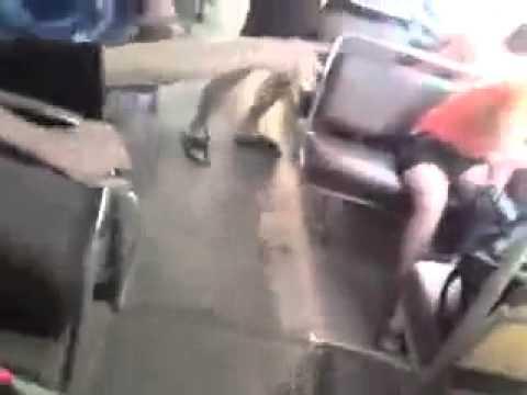 Borrachos - Rompe el autobús y se va sin pagar