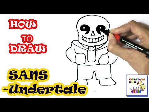 How to draw SANS- Undertale in easy steps, step by step for children, kids, beginners