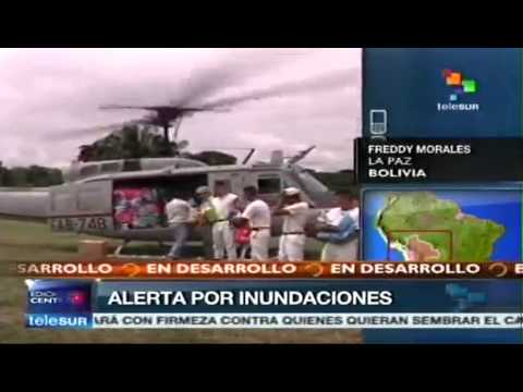 Defensa Civil moviliza 65 toneladas de ayuda en Bolivia