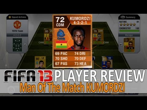 Man Of The Match - Kumordzi Player Review (Fifa13 Ultimate Team)
