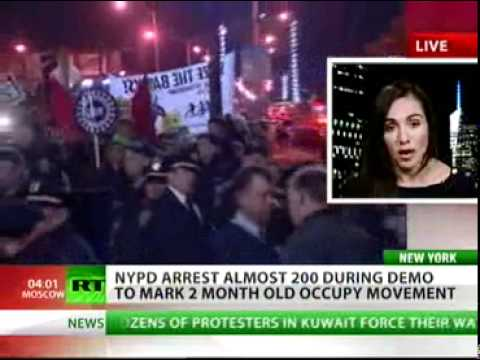 'Occupy Wall Street' - 'Civil disobedience is the only way to go'. - #Occupytogether