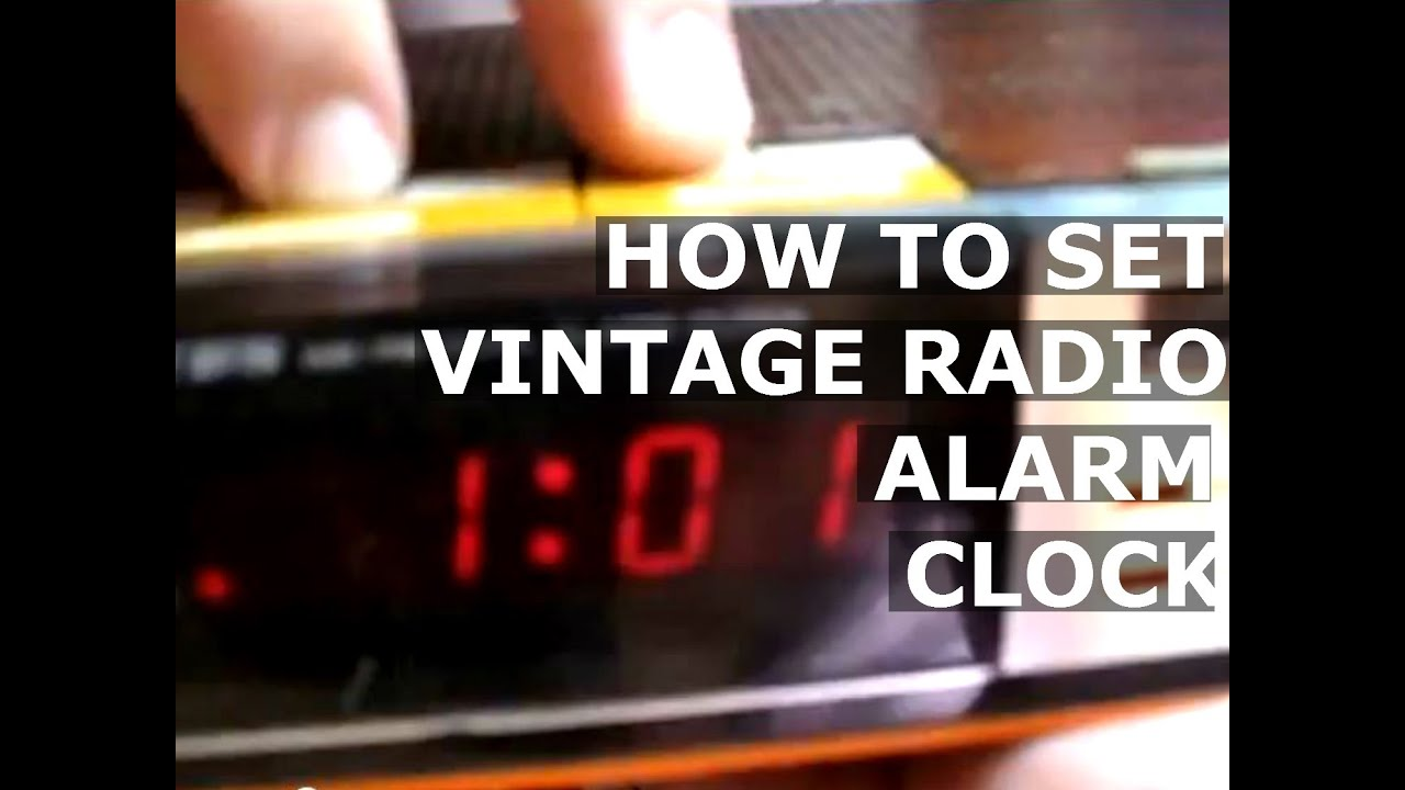 how to set time alarm clock of vintage old lloyd 39 s j375 771a radio am fm. Black Bedroom Furniture Sets. Home Design Ideas