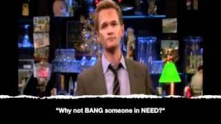 Barney Stinson BEST TOP TEN quotes - How I Met Your Mother