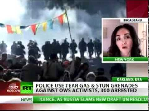 'Occupy Oakland ' ~ RT's Marina Portnaya ~ Police arrest over 300 protesters