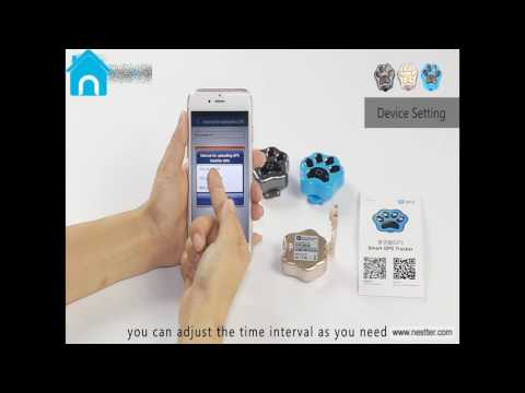 NESTTER Pets GPS Tracker 's Use of Video , Real-time Tracking dog & cat with App for iOS & Android
